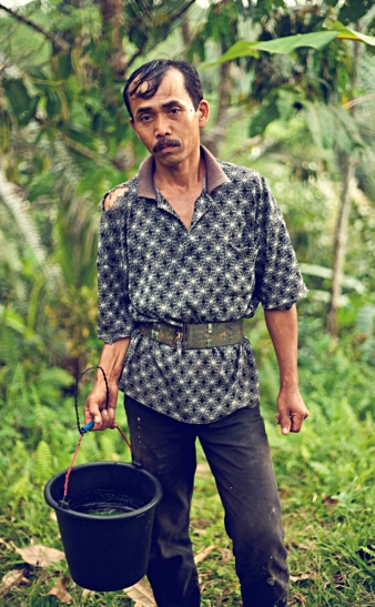 One of our local food heroes, Pak Julie. He climbs his palm trees twice daily the harvest the sweet sap